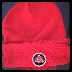 Accessories - Silver Spoon Attire Mesh bow beanie worn once.